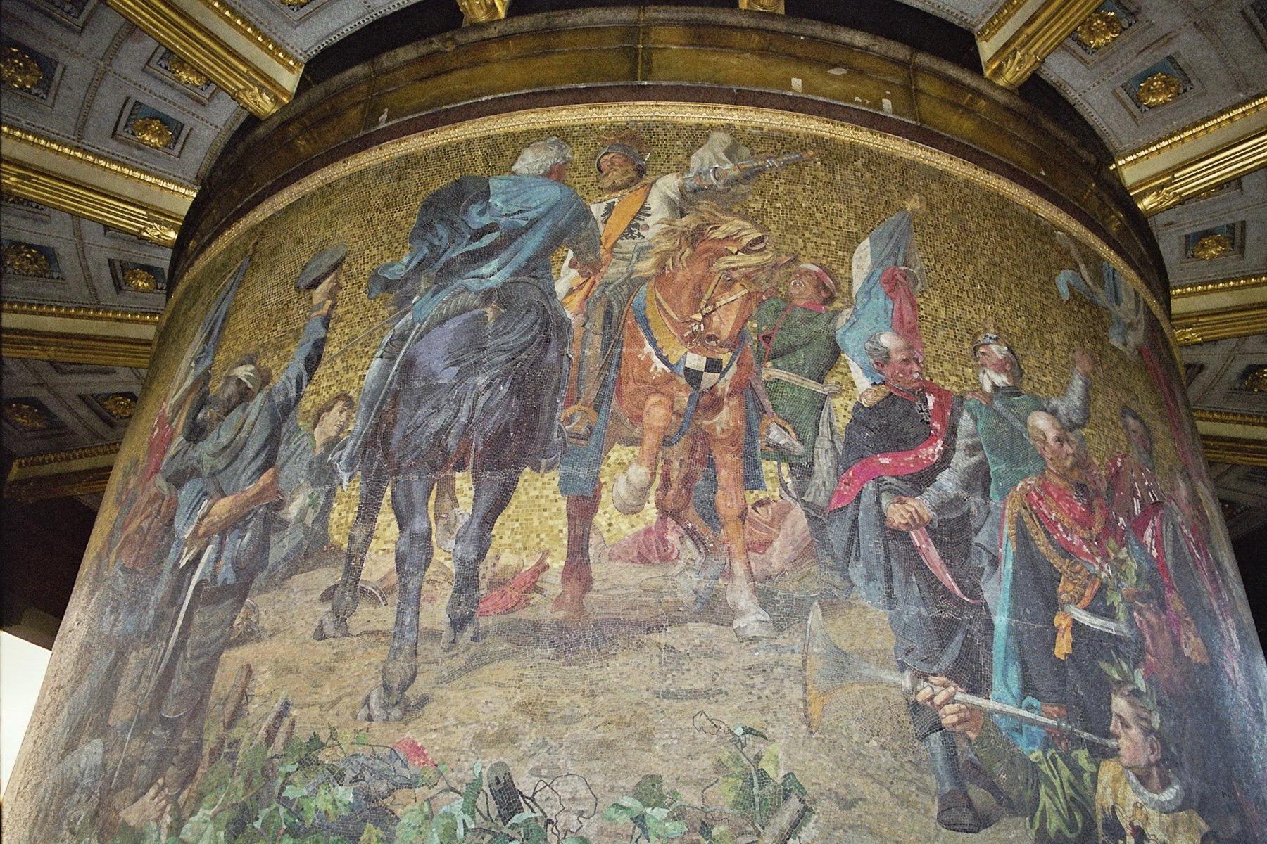 Mosaik Berlin file siegessaeule berlin december 2004 mosaic 05 jpg wikimedia