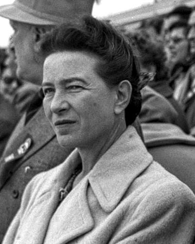 Simone de Beauvoir 1955