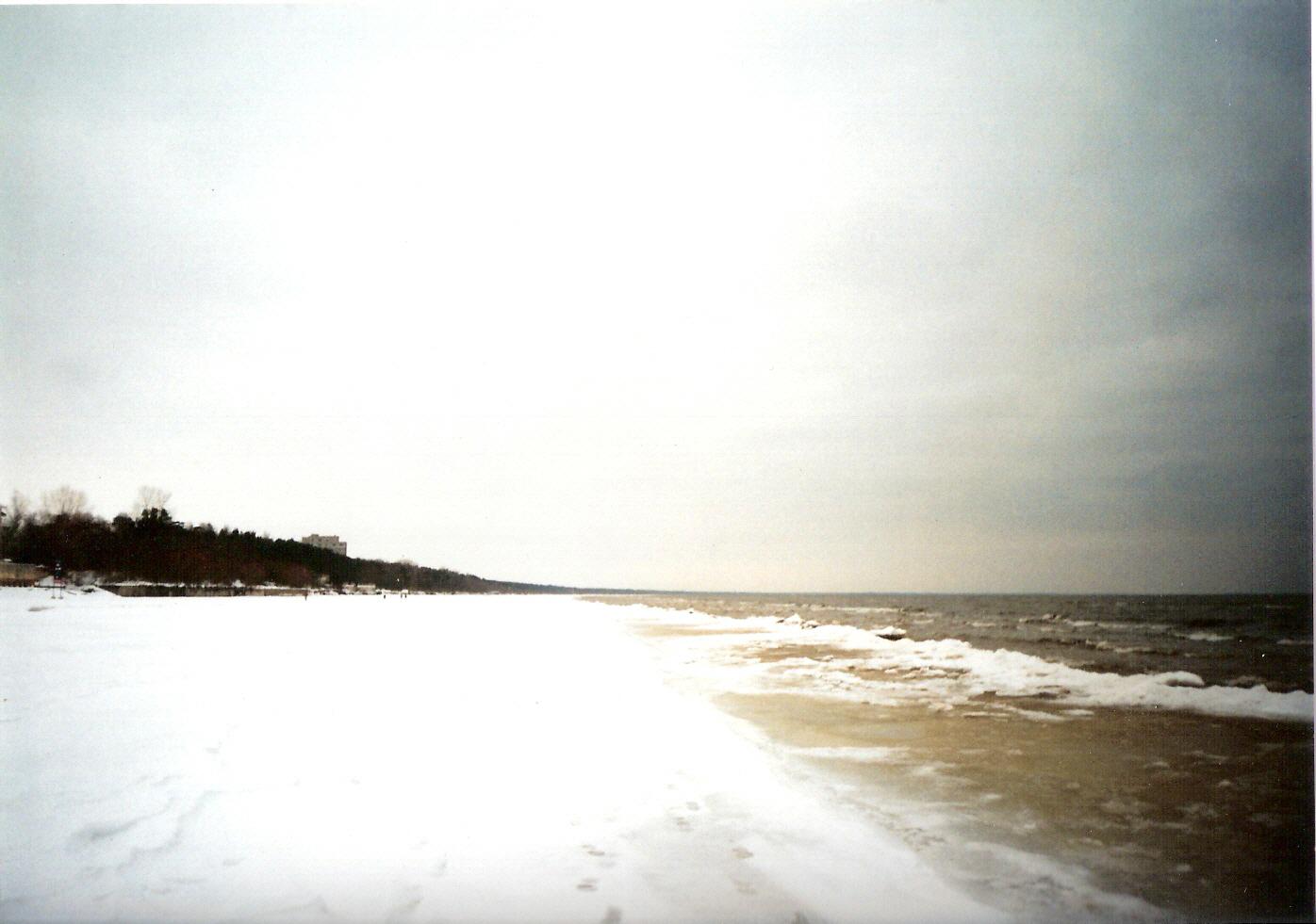 File Snow Covered Beach In Latvia Jpg