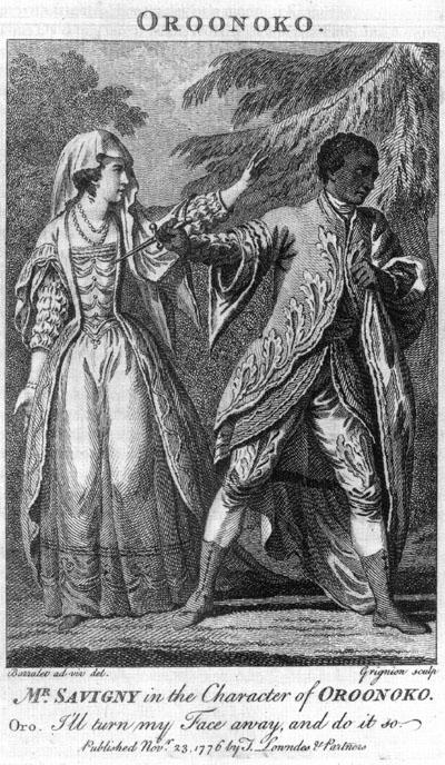 Southerne Oroonoko 1776 performance