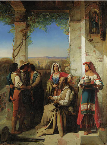 Stanislas Henry-Benoit Darondeau's oil on canvas painting 'The Return of the Prodigal Son', 1840