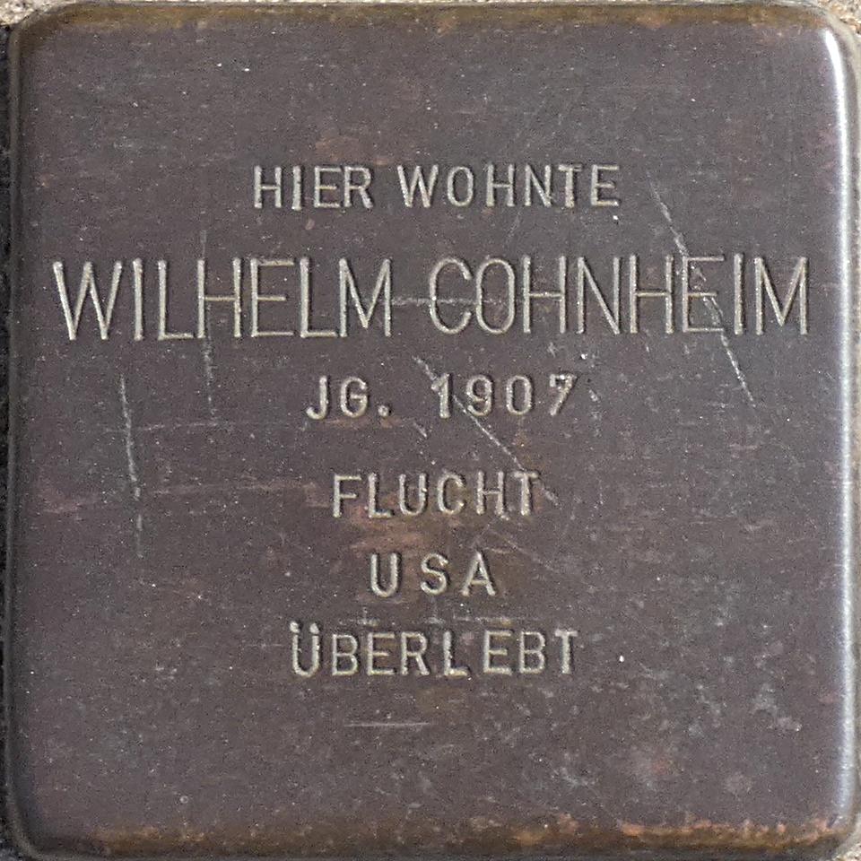 Stolperstein Wilhelm Cohnheim