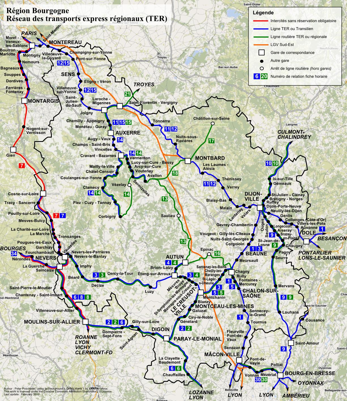 Региональный транспорт Дижона