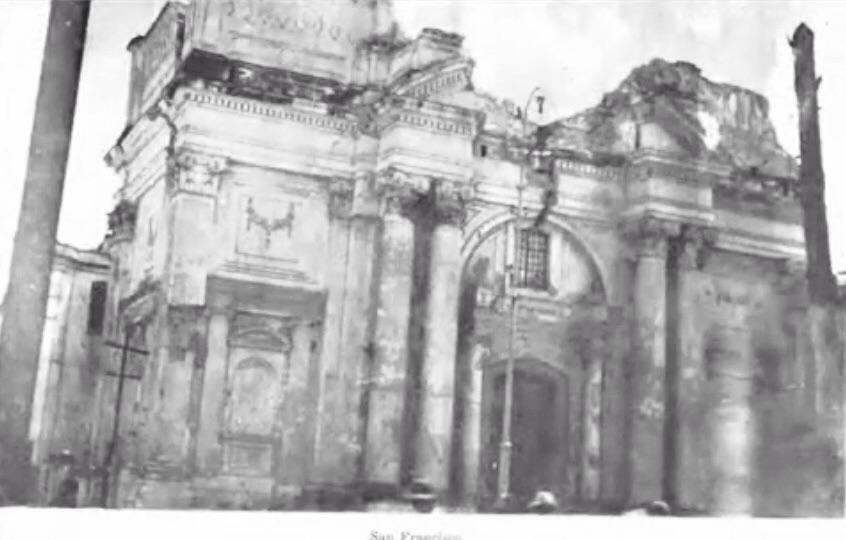 Iglesia de San Francisco en 1918.