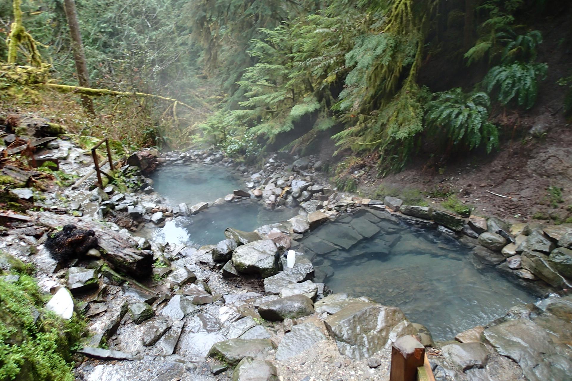 Cougar hot springs landslide