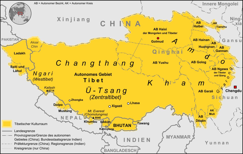 tibet karte File:Tibetischer Kulturraum Karte 2.png   Wikimedia Commons