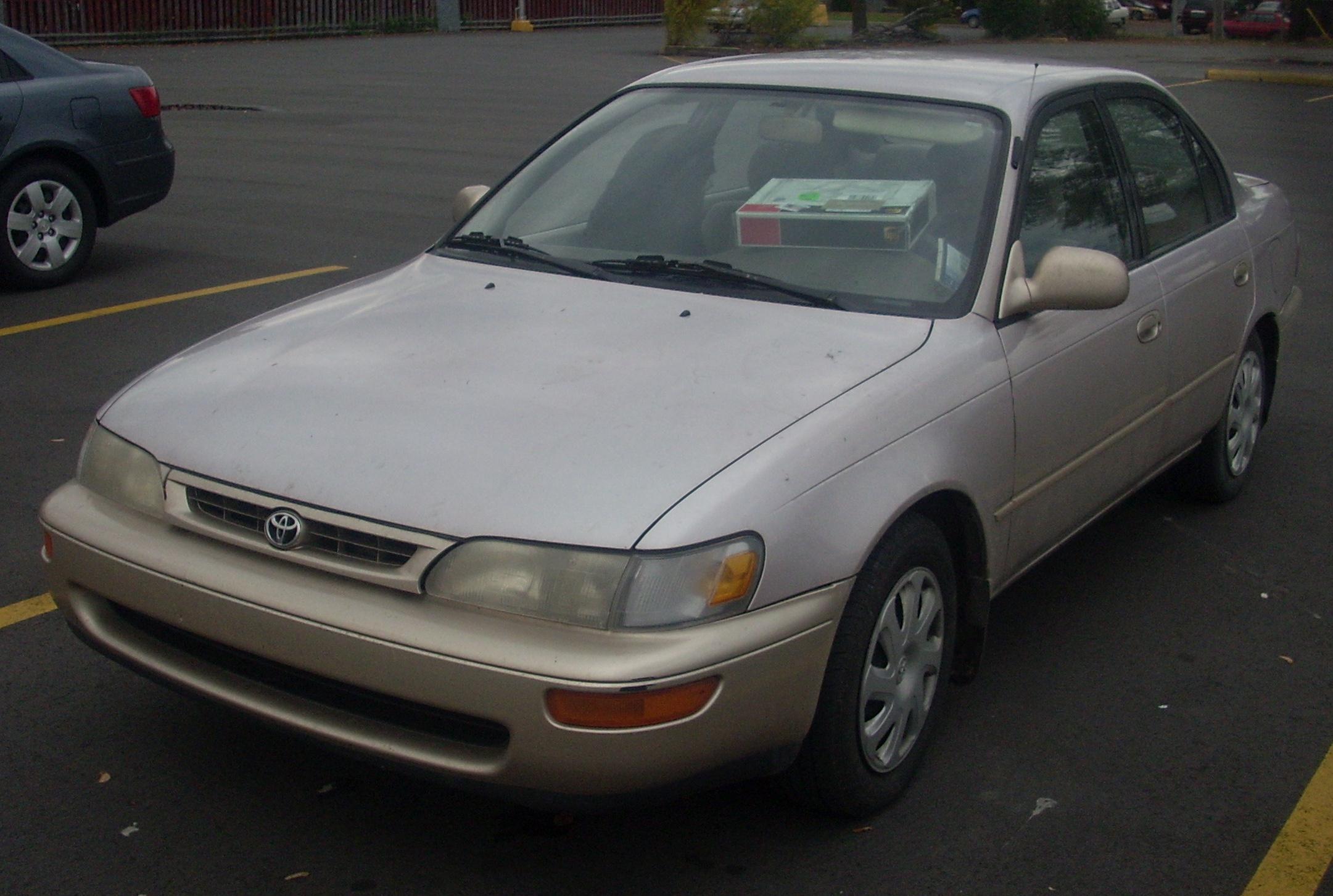 File Toyota Corolla Sedan 1996 97 Jpg Wikimedia Commons