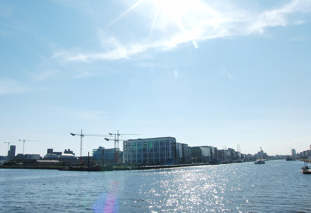 The construction site at Britain Quay, June 2009