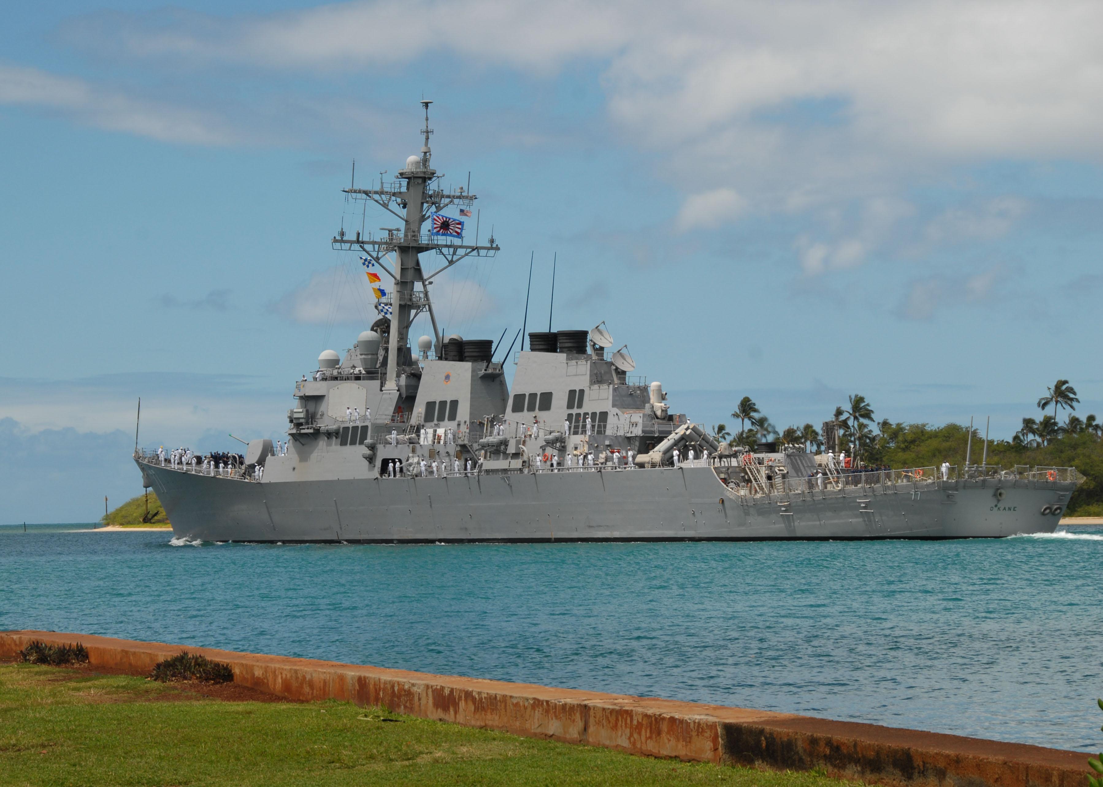 USS O'kane departs Pearl Harbor