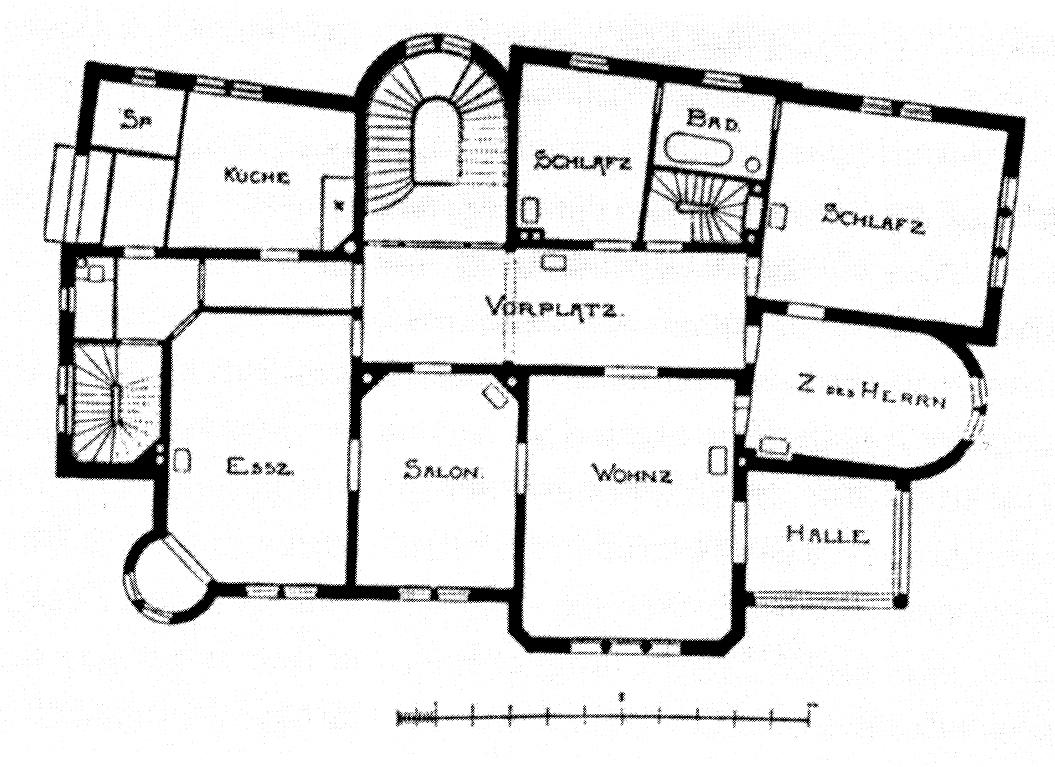 1 Stuttgart Architekten Eisenlohr Und Weigle Grundriss Obergeschoss Von