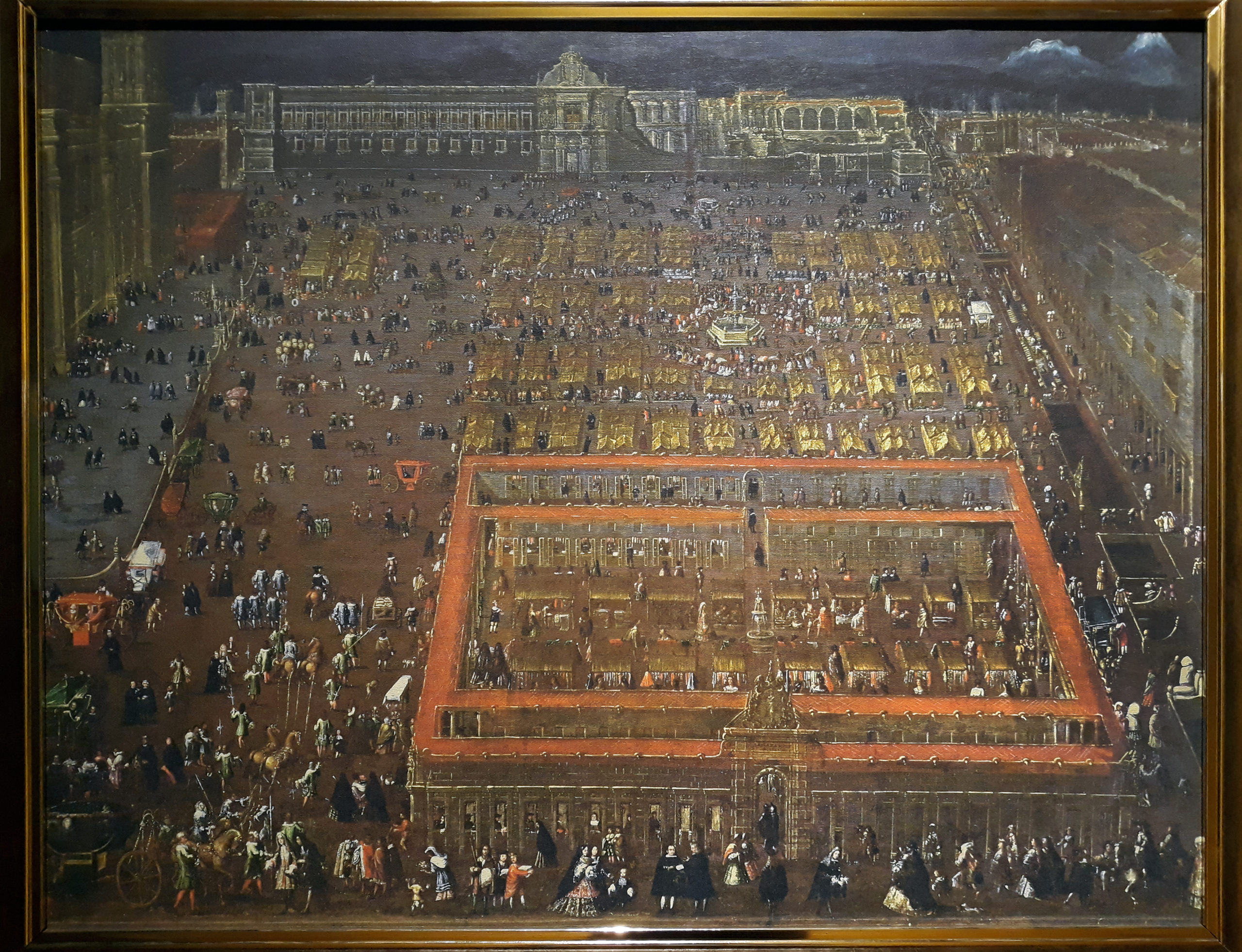 View of the Plaza Mayor of Mexico city (ca. 1695) by Cristóbal de Villalpando