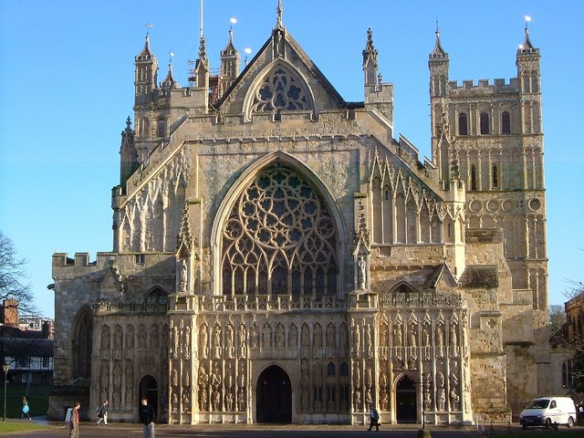 west front, exeter cathedral - geograph.org.uk - 1091007.jpg