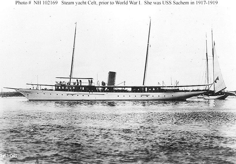 Yacht Celt, USS Sachem, USS Phenakite.jpg