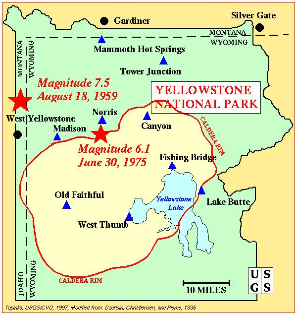 Yellowstone Calder Map