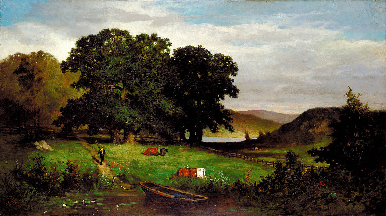 File Oak Trees By Edward Mitchell Bannister 1876 Jpg