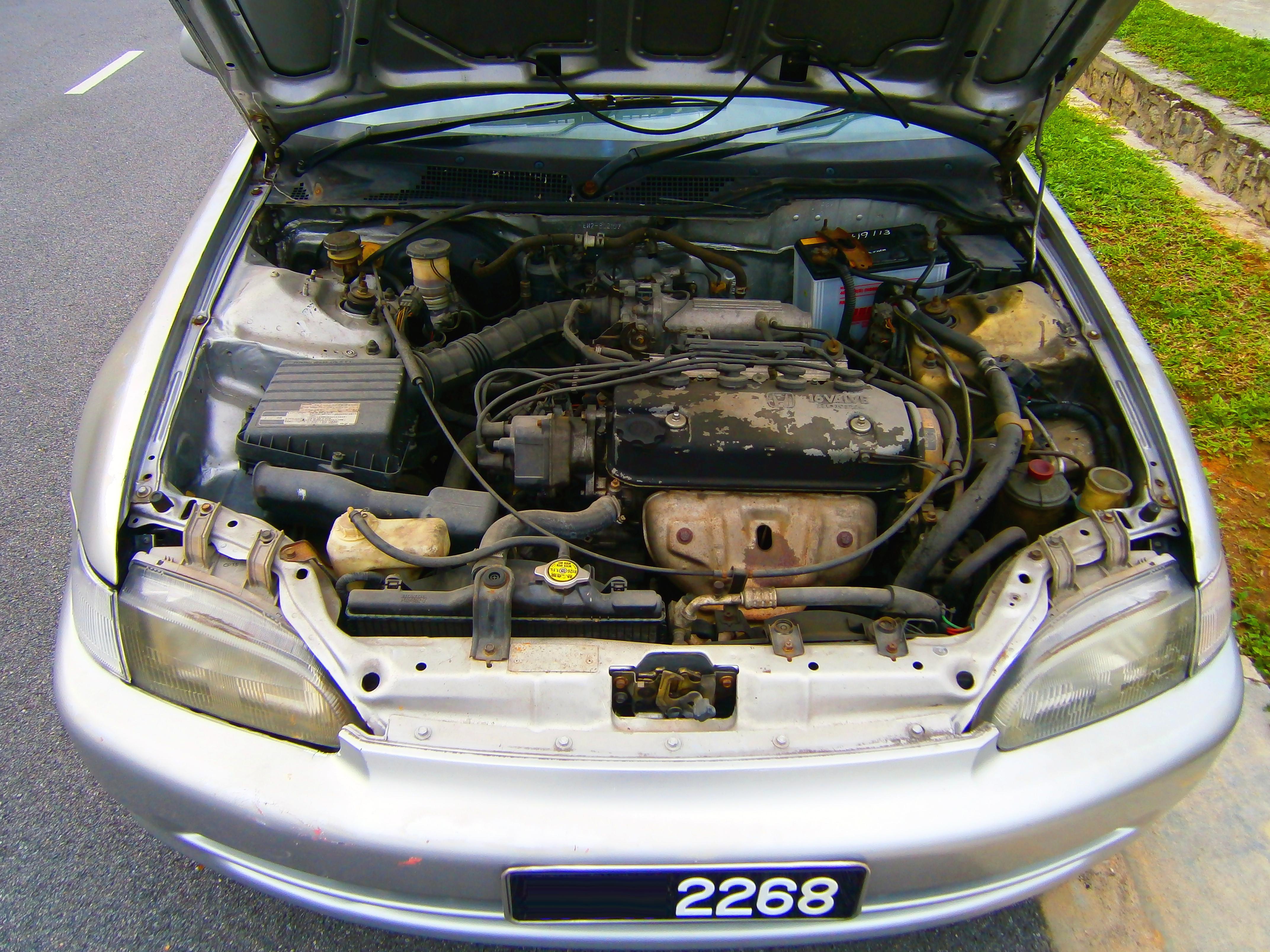 Elegant File:1.6L Honda VTEC Engine In A 1992 Honda Civic EH5 Saloon In Puchong