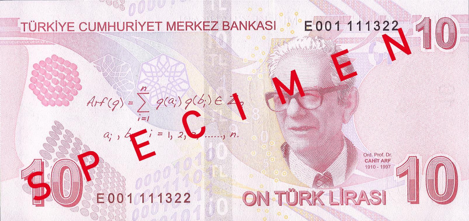 10 турецких лир