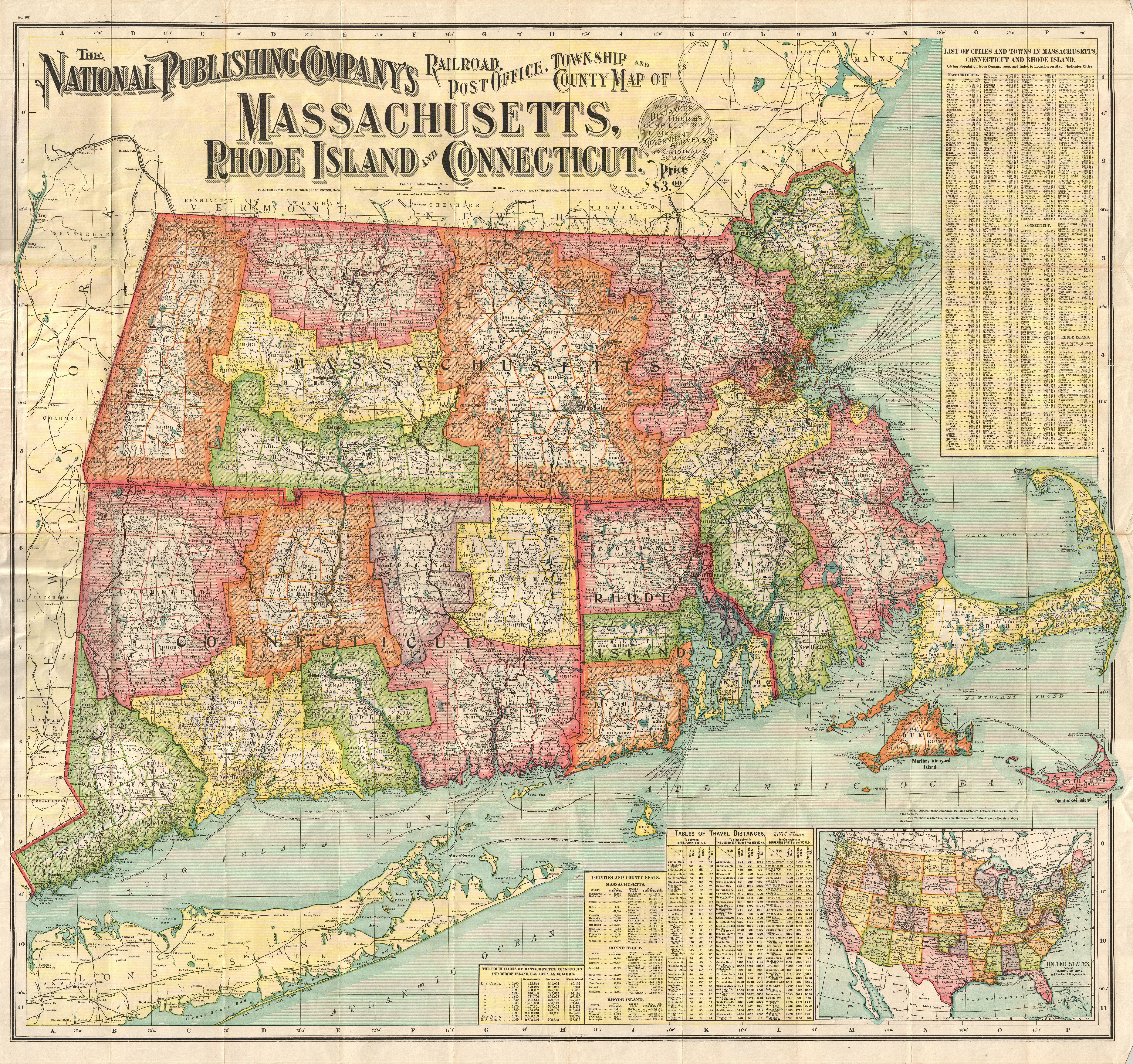 map of connecticut and massachusetts File 1900 National Publishing Railroad Map Of Connecticut map of connecticut and massachusetts