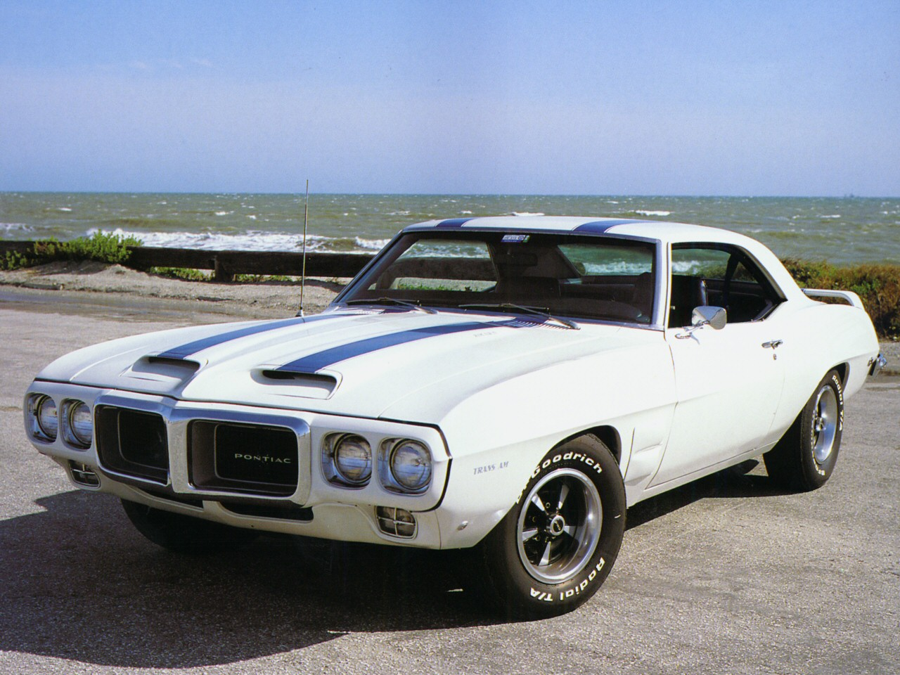 File 1969 Pontiac Firebird Trans Am Polar White Frt Qtr