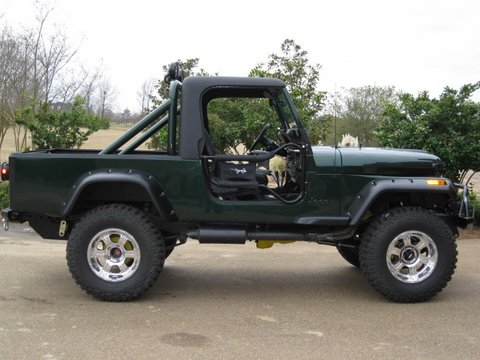 Jeep Wrangler Pickup Bed Size
