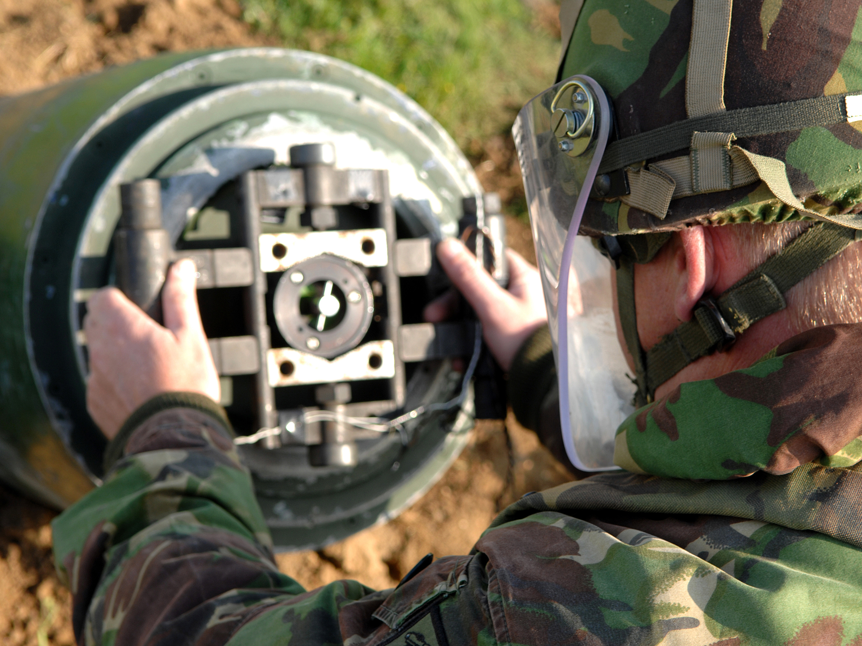 File A Royal Air Force Bomb Disposal Expert Attaches A