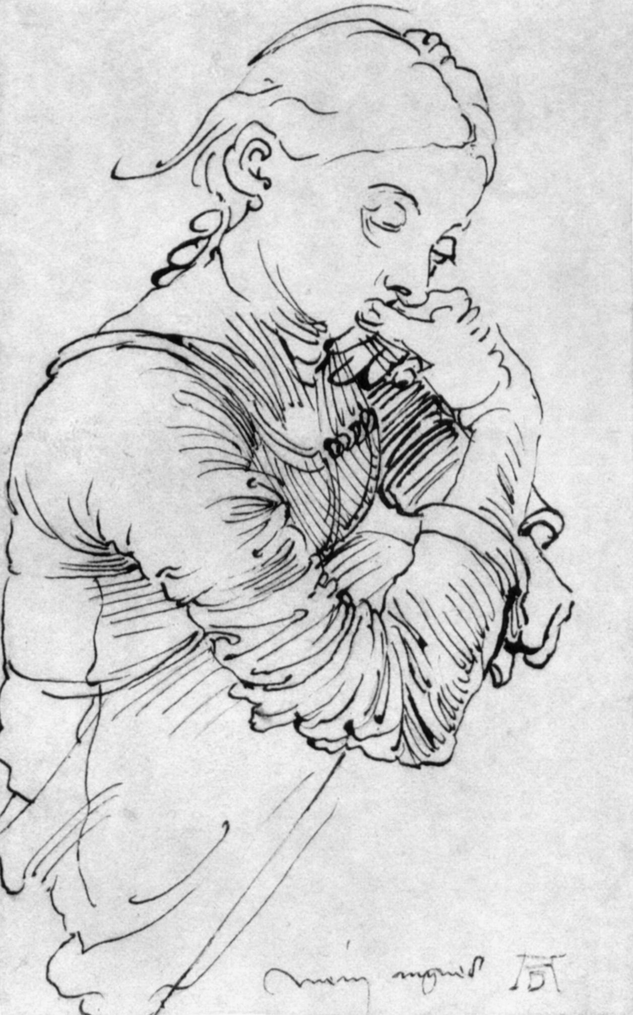 Line Art Wikipedia : File agnes duerer g wikimedia commons