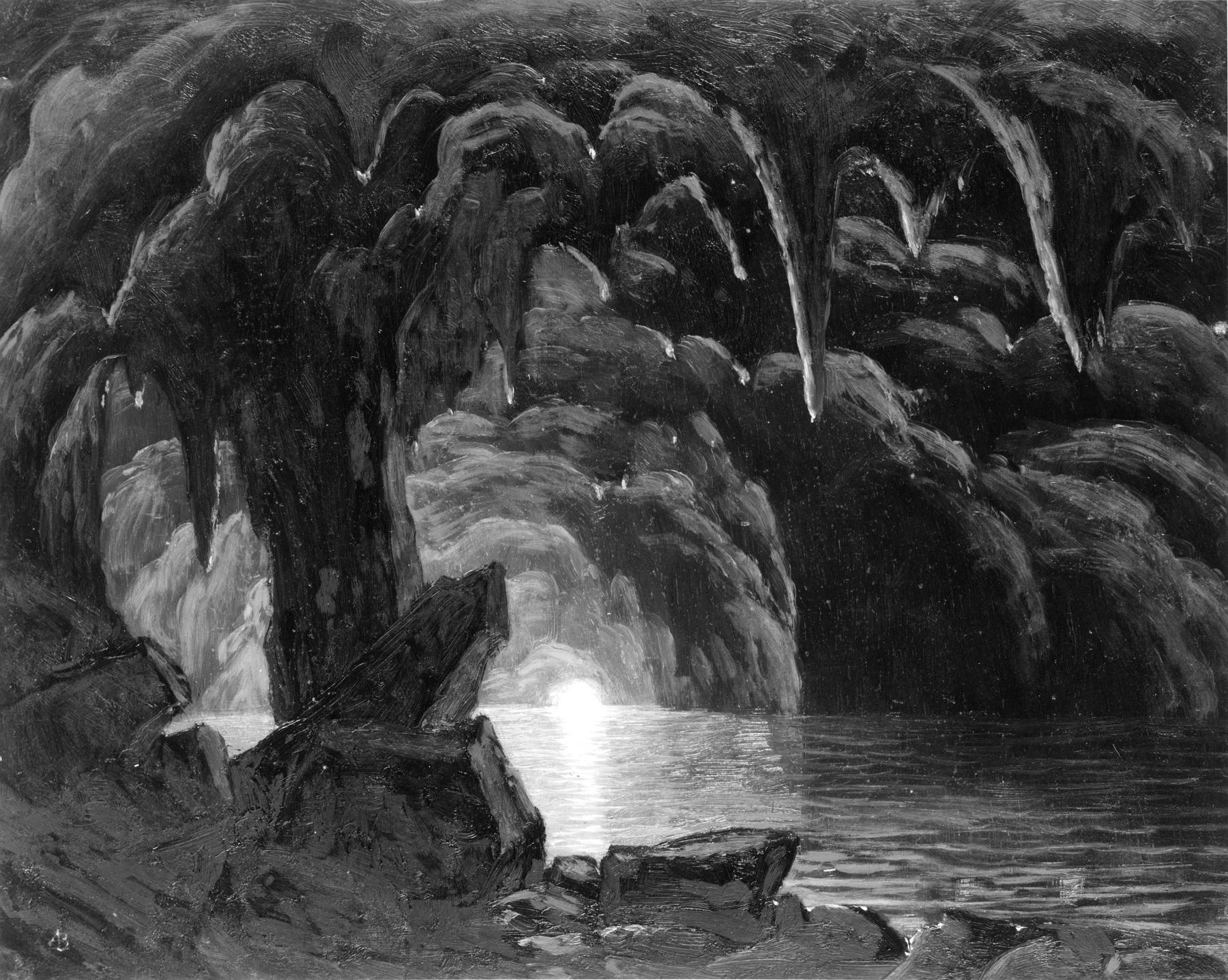 Naples To Capri >> File:Albert Bierstadt - The Blue Grotto, Capri - Walters 371565.jpg - Wikimedia Commons