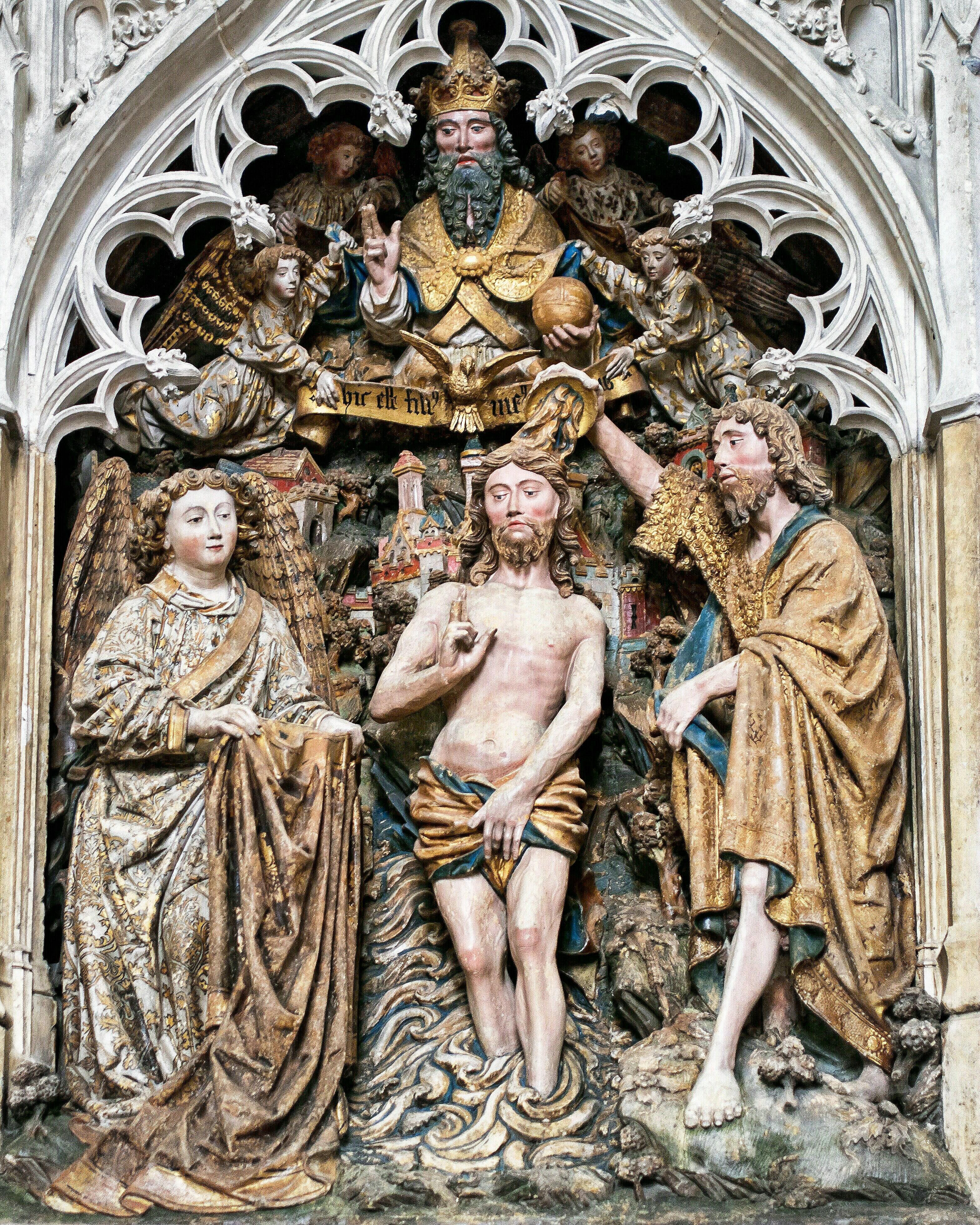 Fileamiens Kathedrale Szenen Aus Dem Leben Johannes Des