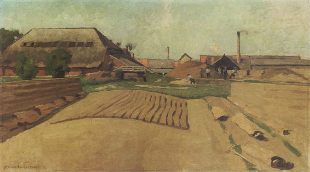 File:Anthon van Rappard 1885 - View of the Ruimzicht brickyard, Jutphaas.jpg