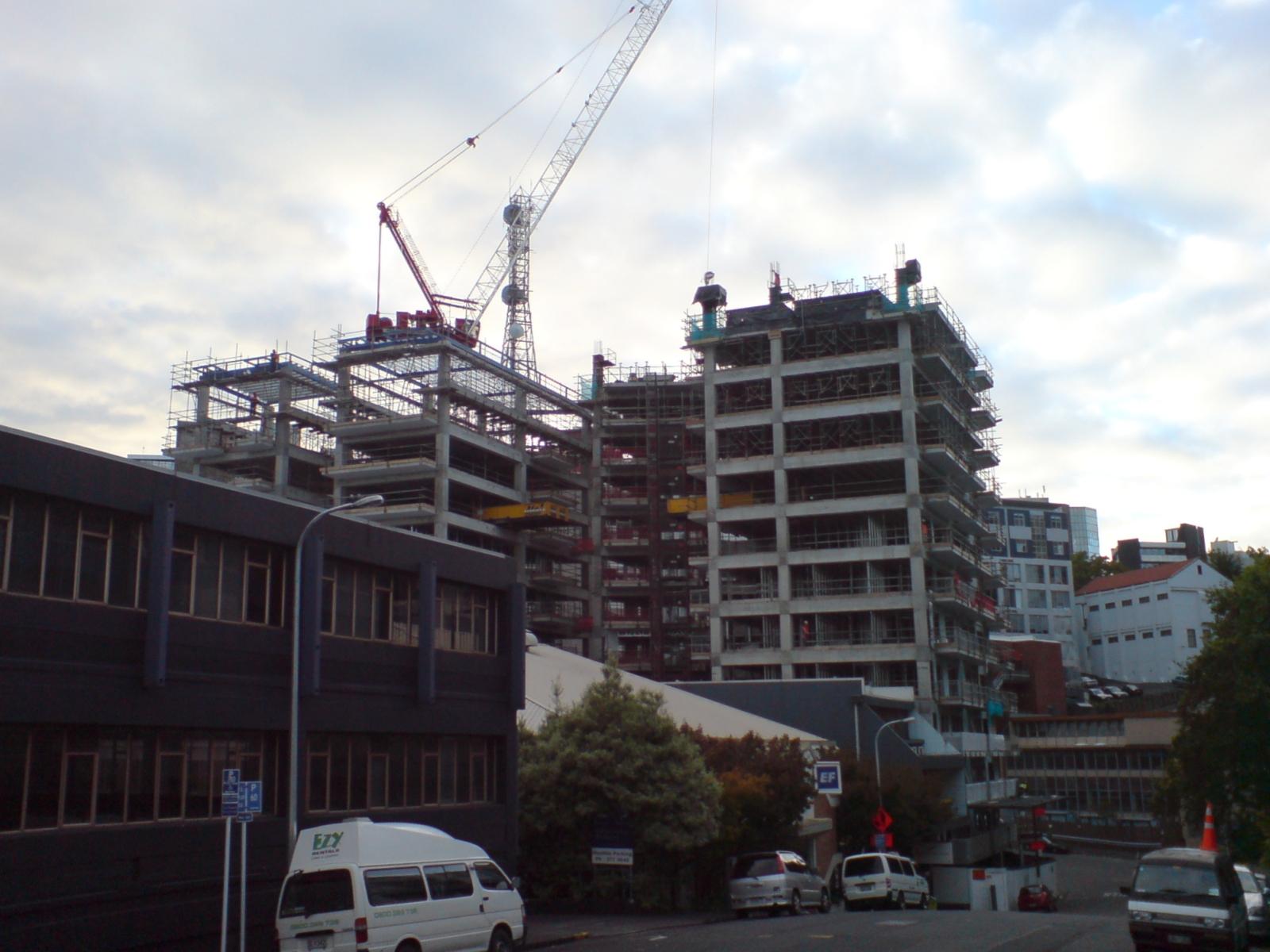 Description apartment building construction site nz