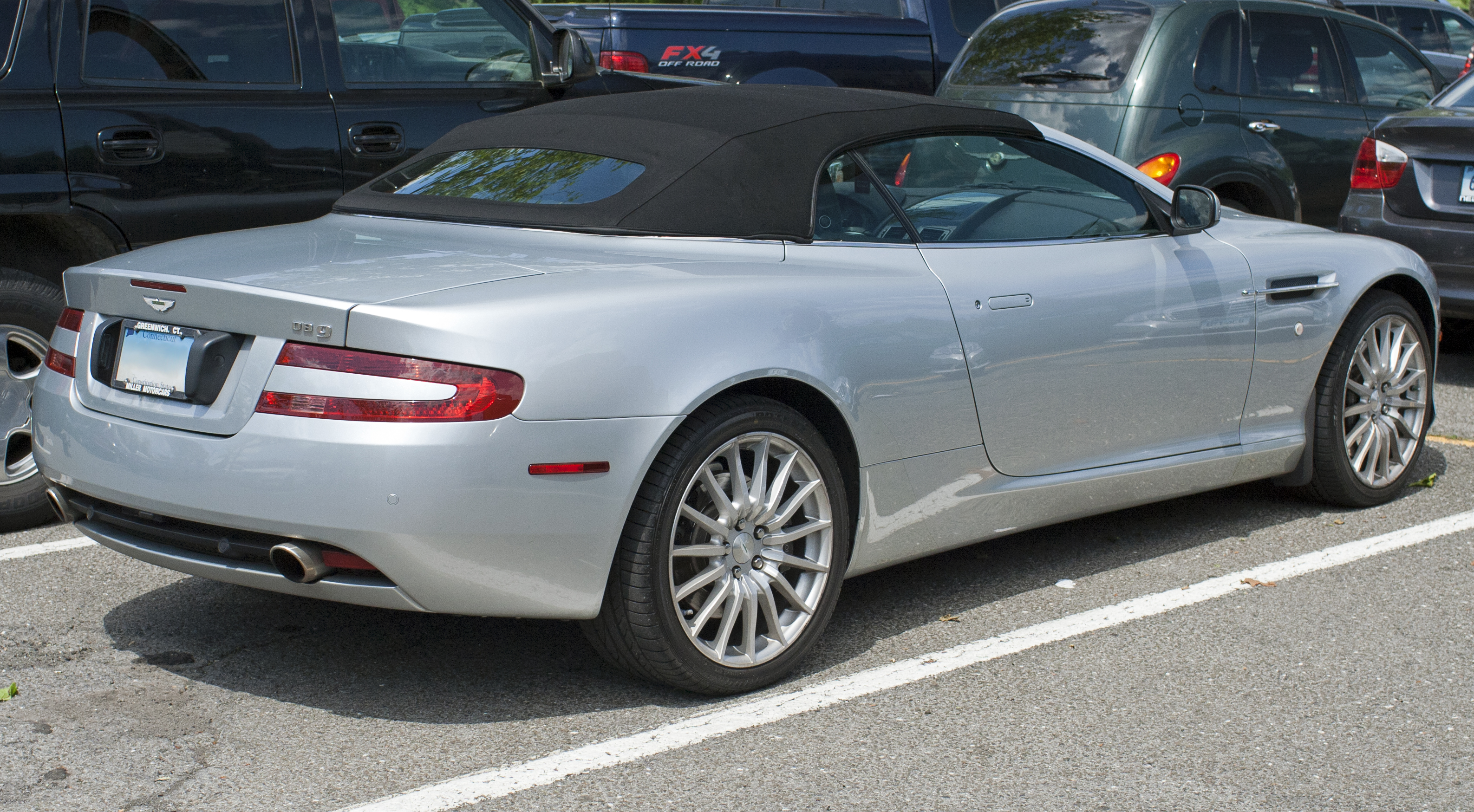 aston martin db9 convertible. fileaston martin db9 volante rear usjpg aston db9 convertible