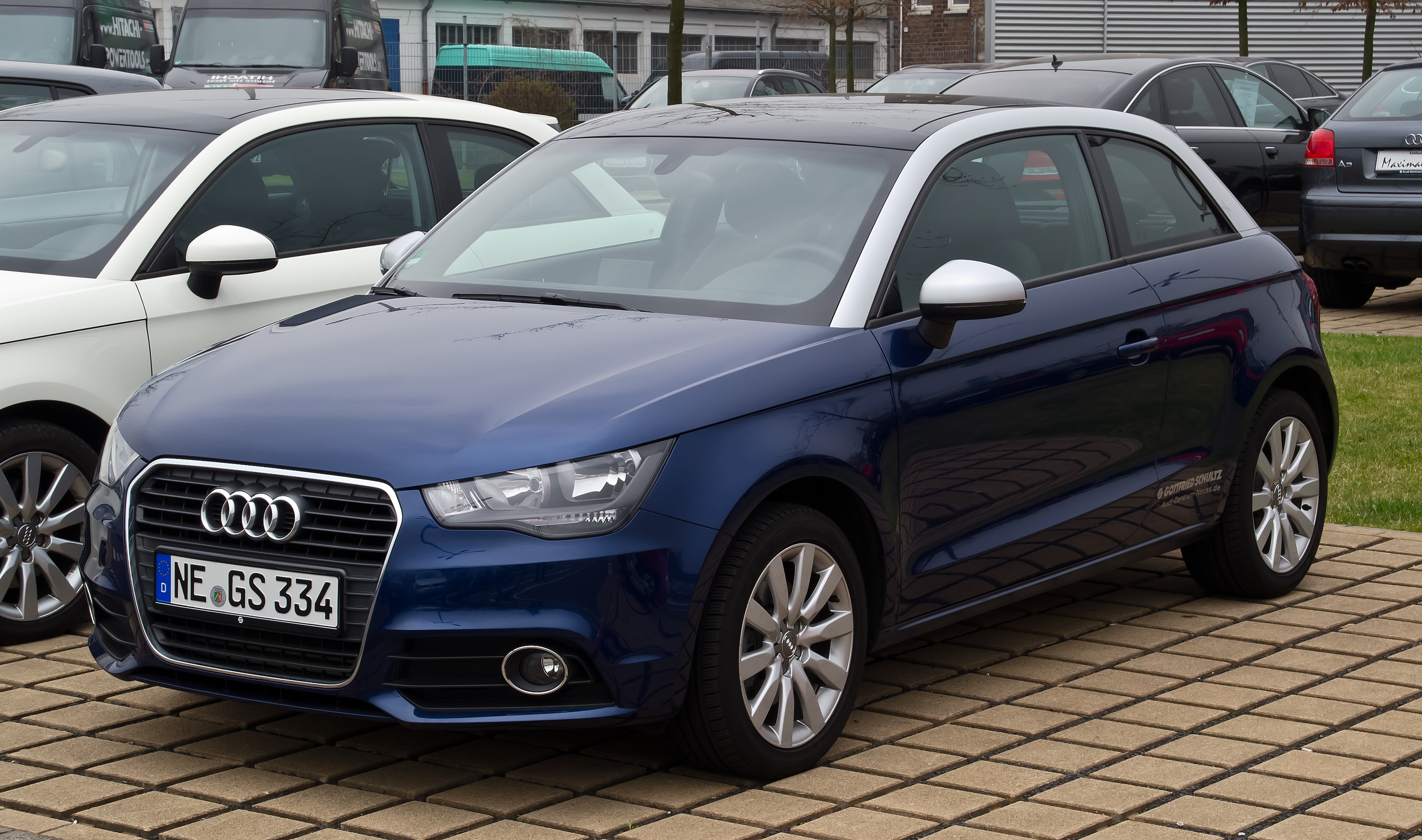 file audi a1 1 6 tdi ambition frontansicht 17 m rz 2012 d wikipedia. Black Bedroom Furniture Sets. Home Design Ideas
