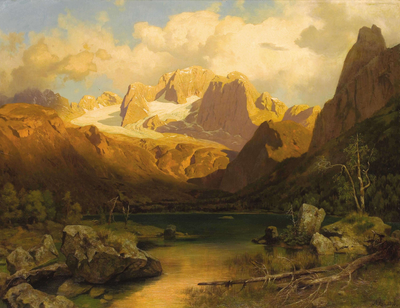 German Oil Painting L Horst Flowers