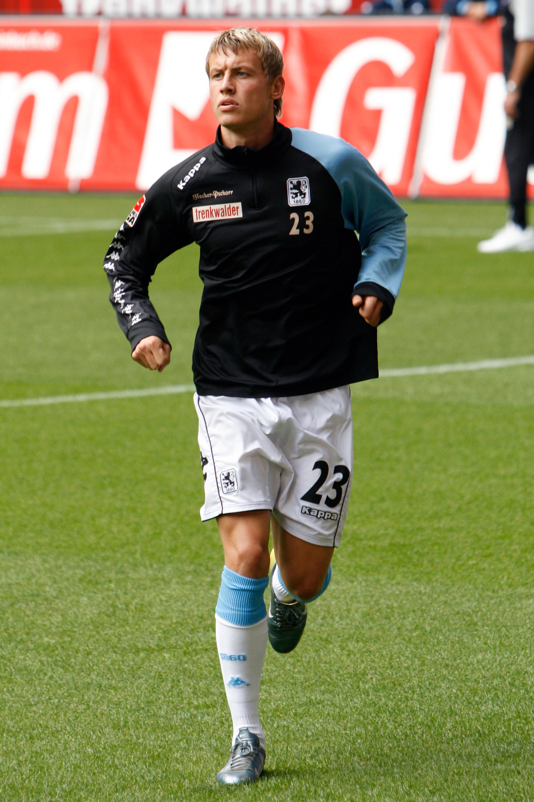 Benjamin Schwarz bei Aufwärmen vor dem Spiel 1860 - Koblenz am 30.September 2007