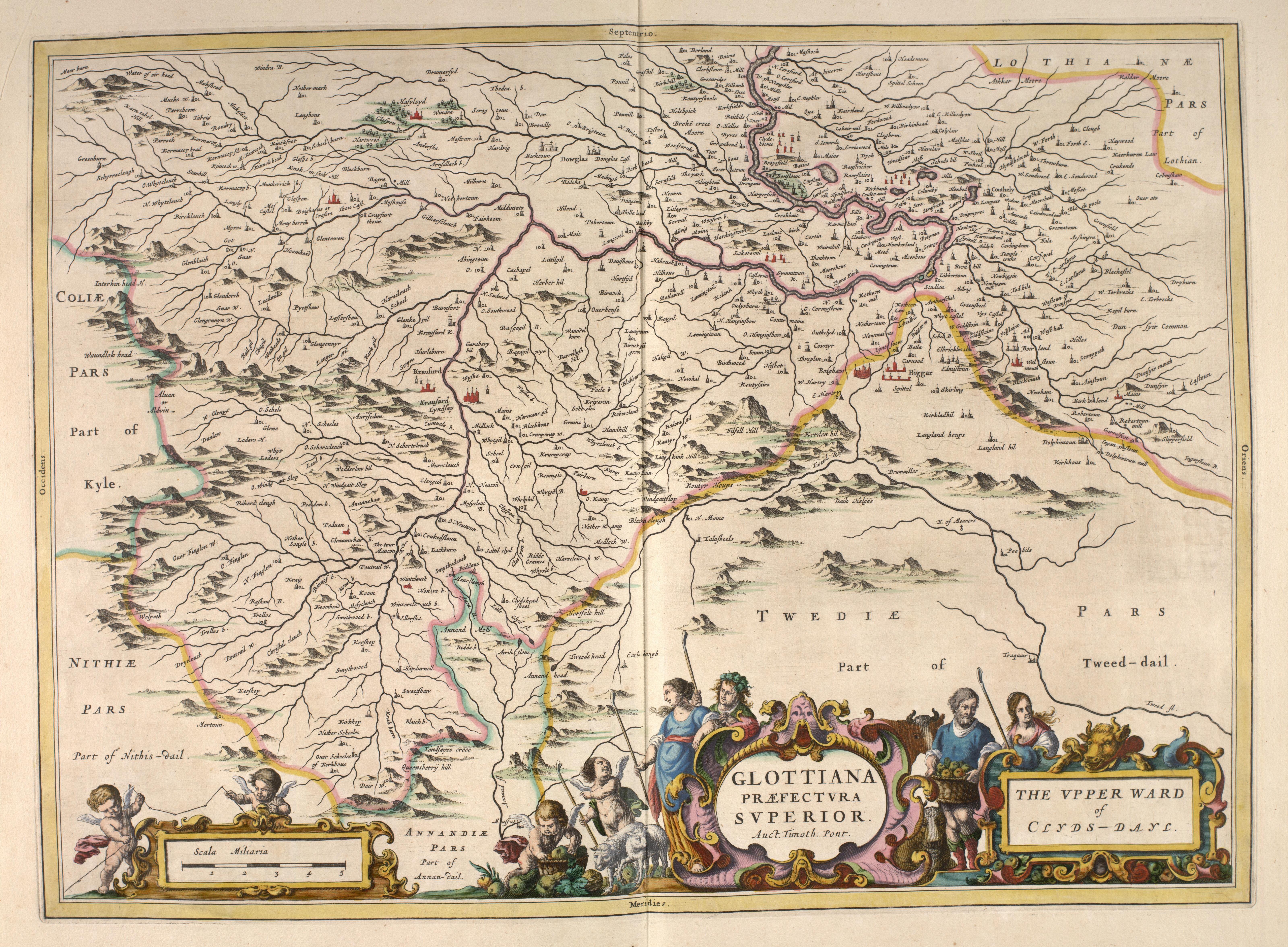 File:Blaeu - Atlas of Scotland 1654 - GLOTTIANA PRÆFECTVRA SVPERIOR - Upper  Clydesdale.