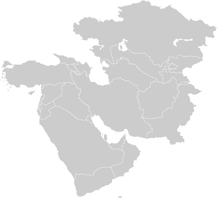 Blank Map Of West Asia - Blank map of the west