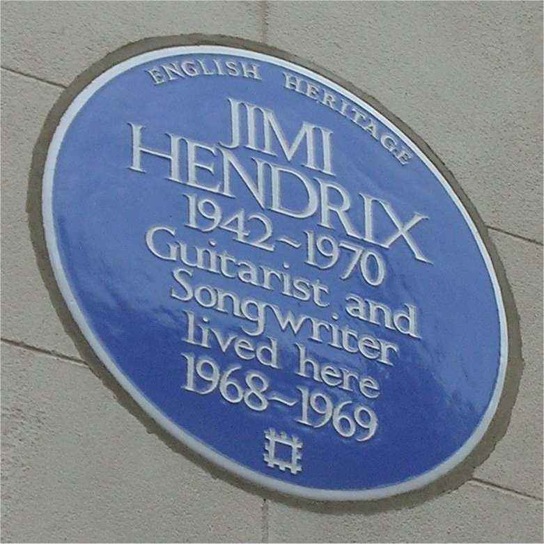 Jimi Hendrix, blue plaque