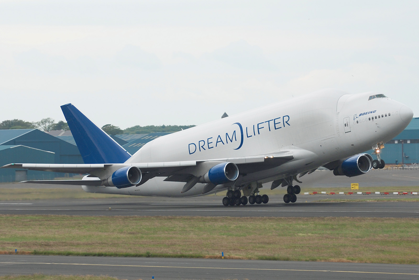 Boeing 747-409LCF Dreamlifter at Edinburgh Airport by Scott Wright.