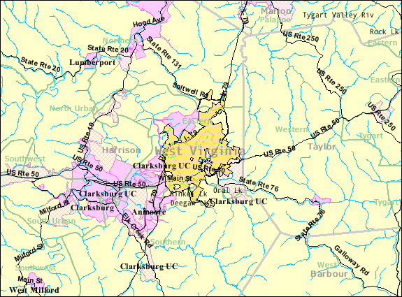 FileBridgeport WV 2000 Census Reference Mappng