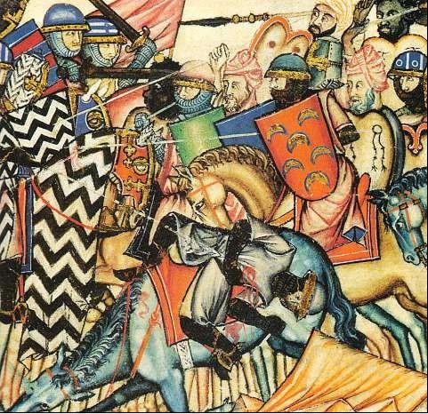 Battle of Cantigas de Santa María, 13th century.