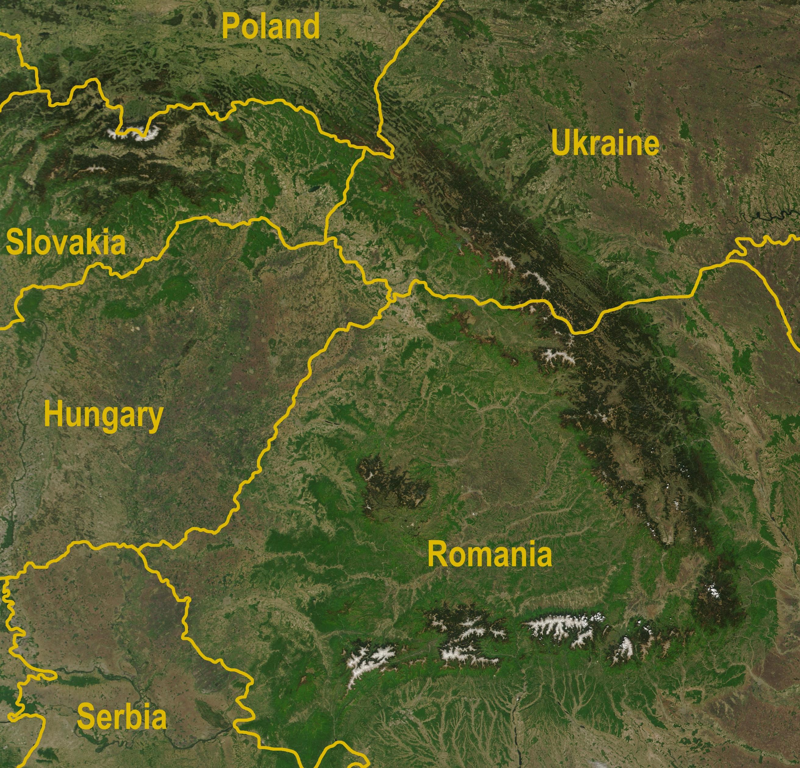 Where are the Carpathians 67