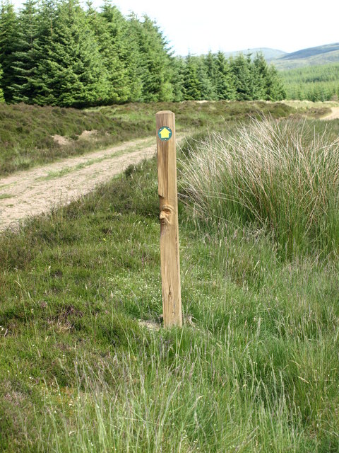 File carved marker post geograph g