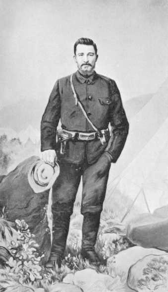Christiaan De Wet was the most formidable leader of the Boer guerrillas. He successfully evaded capture on numerous occasions and was later involved in the negotiations for a peace settlement. Christiaan de Wet.jpg