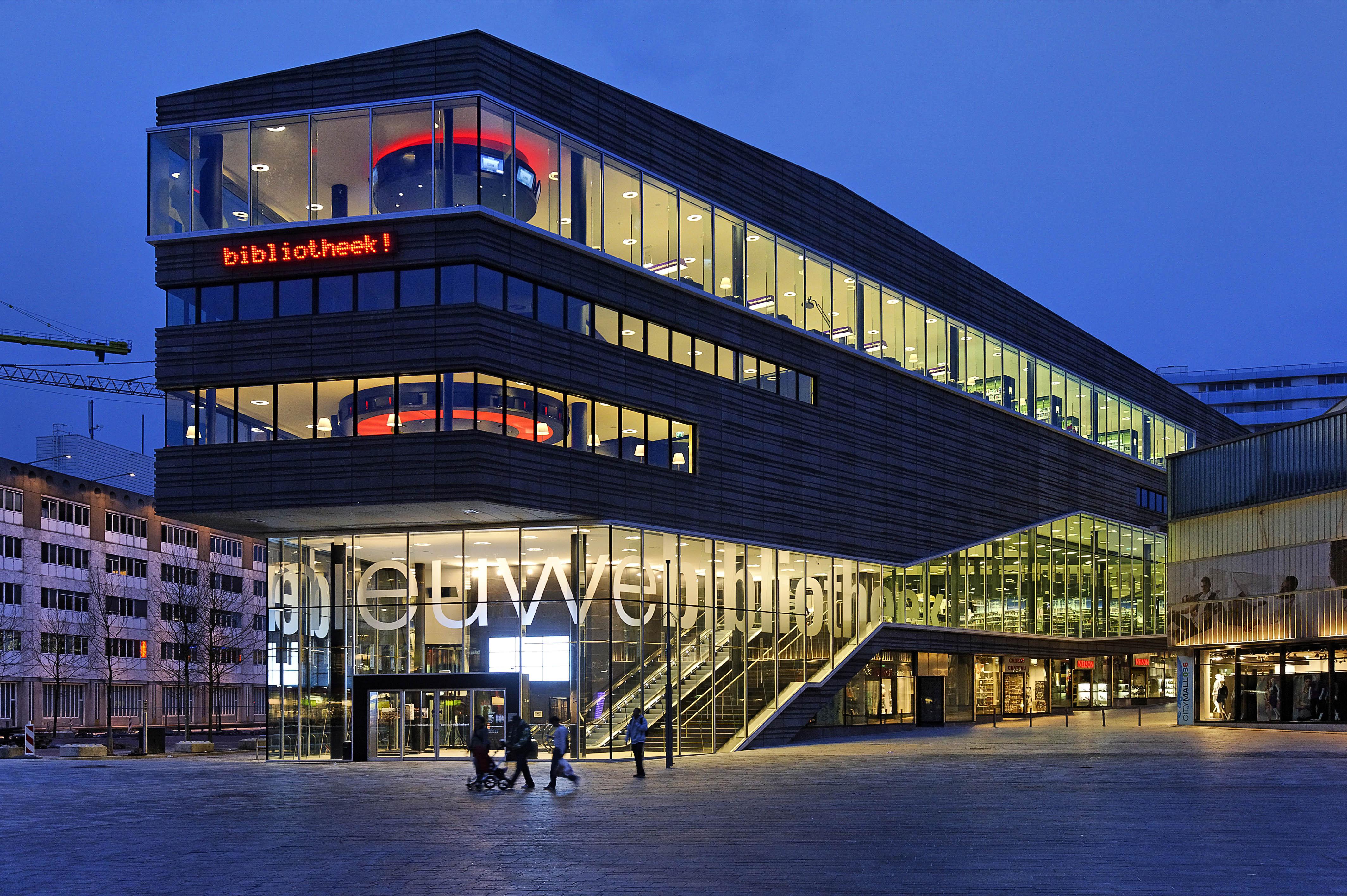 File de nieuwe bibliotheek library almere nl wikimedia commons - Moderne bibliotheek ...