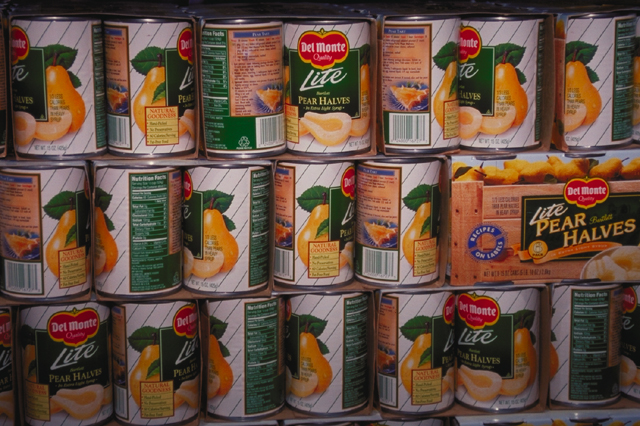 Del Monte canned pears