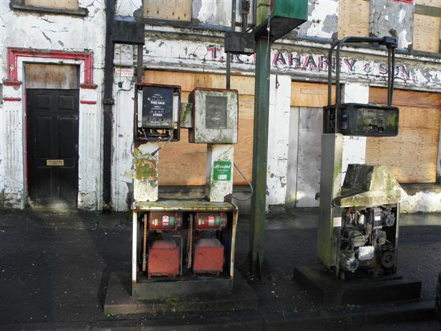 File:Derelict fuel pumps, Sixmilecross - geograph.org.uk - 1620474.jpg
