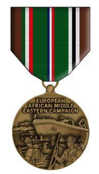 Africa 5 total Europe Middle East Medal plastic ribbon bars