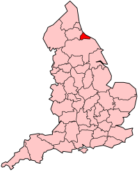 area and former county in the north east of England