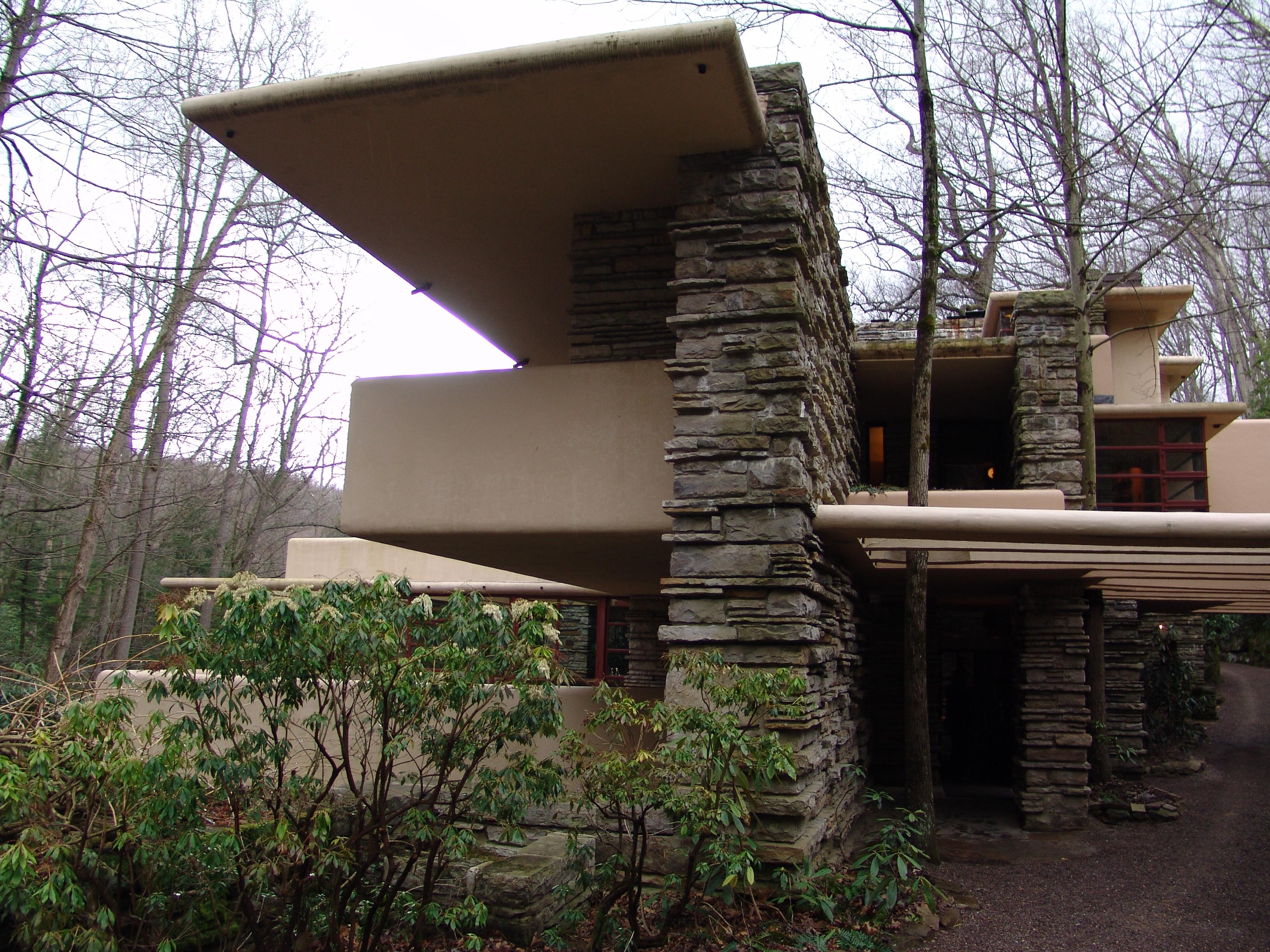 File frank lloyd wright fallingwater exterior 5 jpg - La maison sur la cascade ...