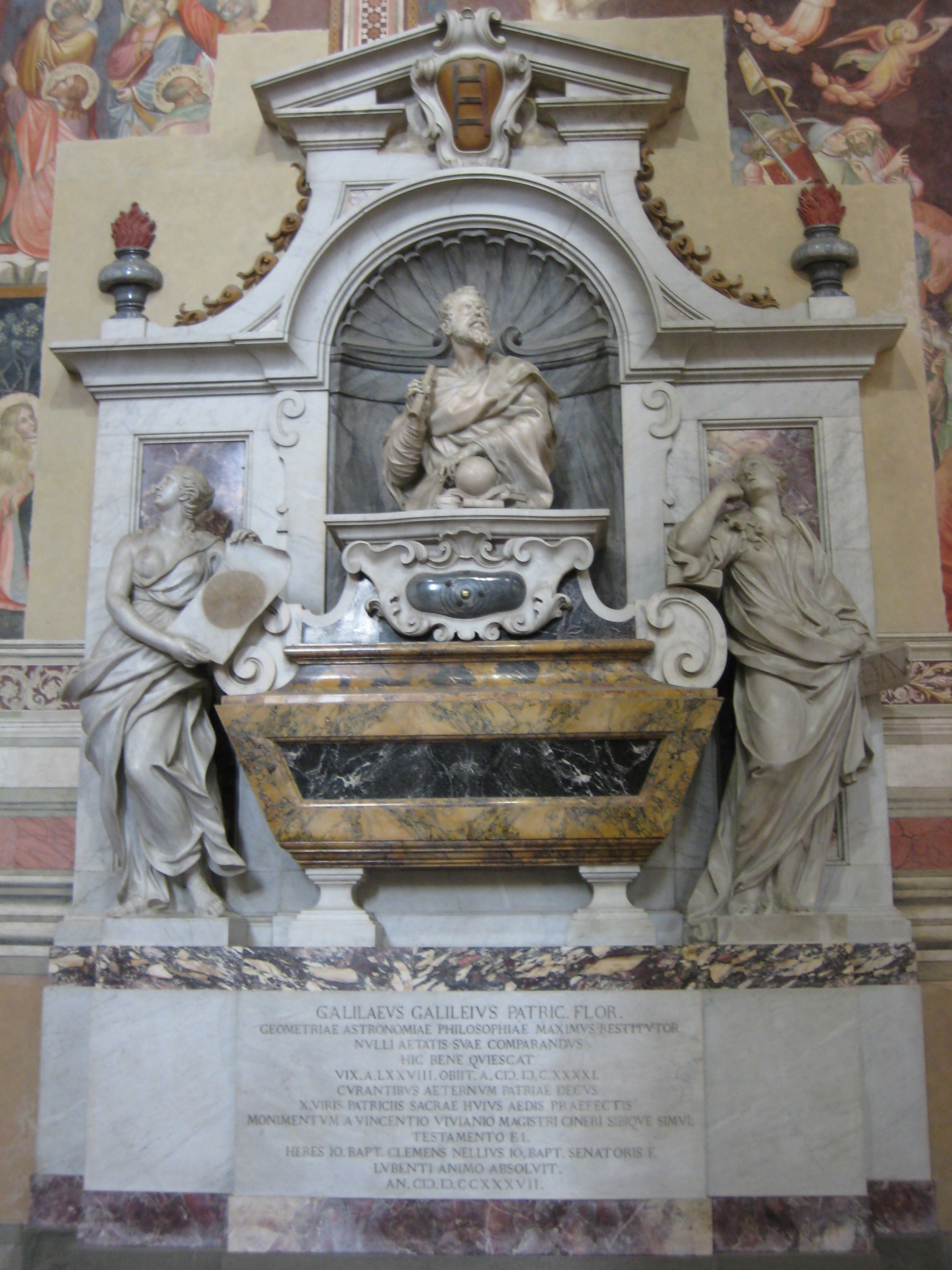 Image result for basilica of santa croce in florence italy Gallileo tomb